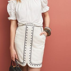 Anthropologie Tulley Textured Mini Skirt